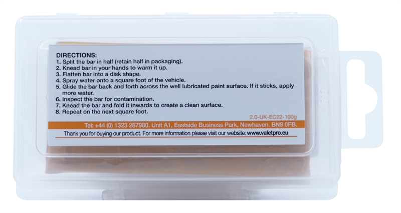 Mild Contamination Removal Bar back label