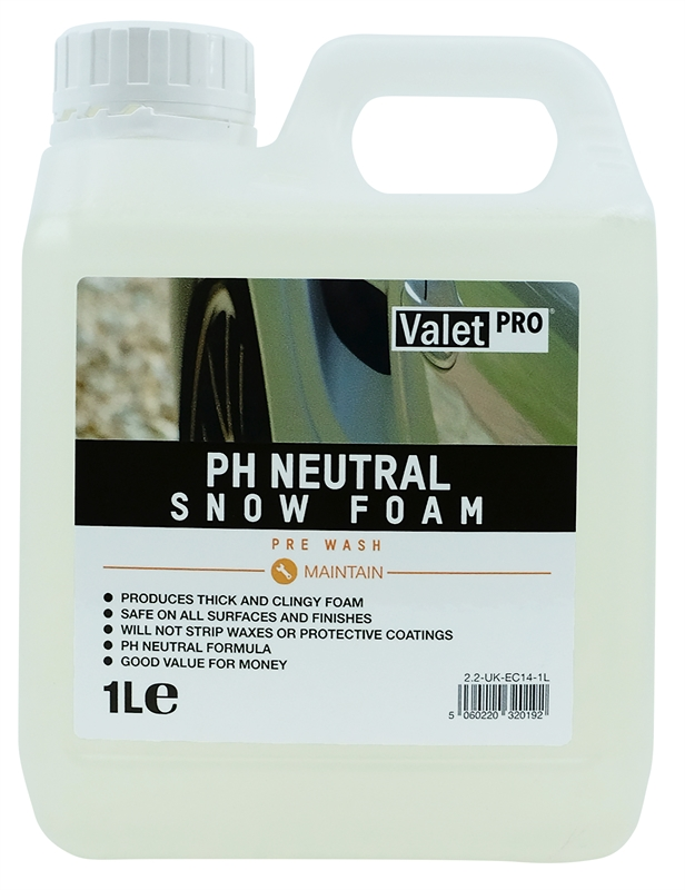 pH Neutral Snow Foam 1L front label