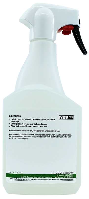 FabSeal 500ml - back label