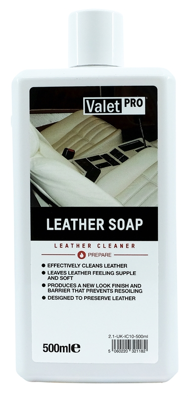 Leather Soap 500ml front label