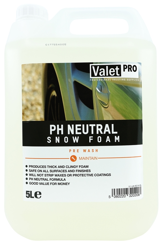 pH Neutral Snow Foam 5L front label