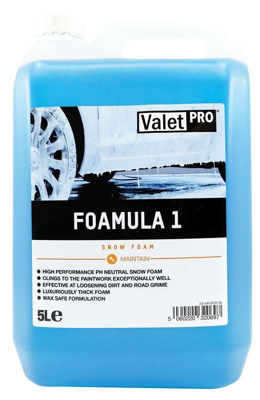 Foamula 1 Snow Foam 5L front label