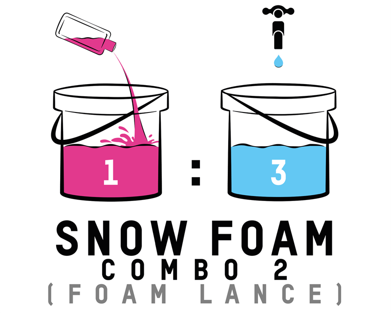 Snow Foam Combo 2 Dilution Ratio foam lance