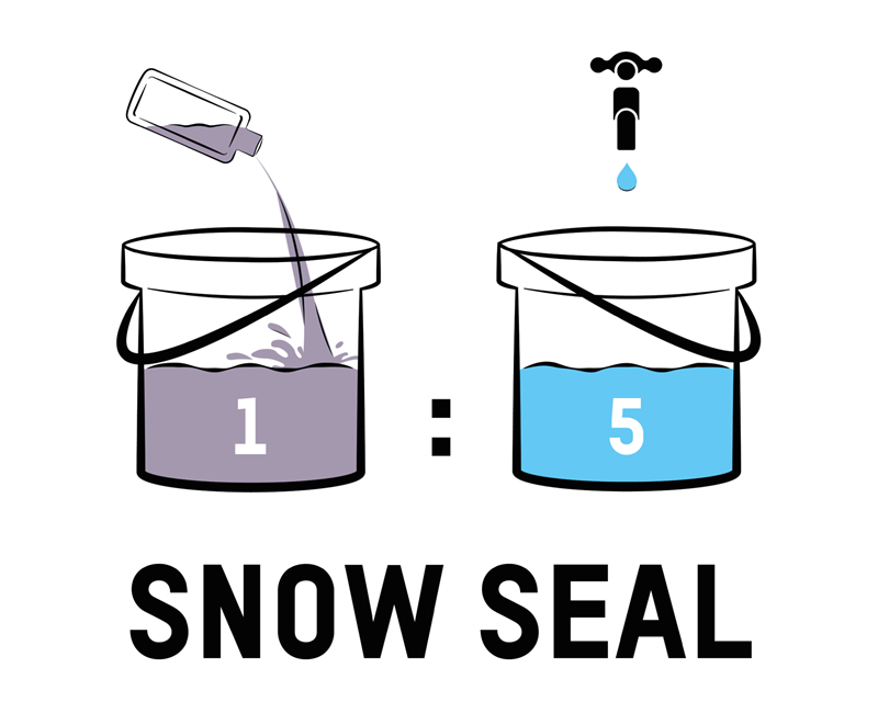 Snow Seal Dilution Ratio