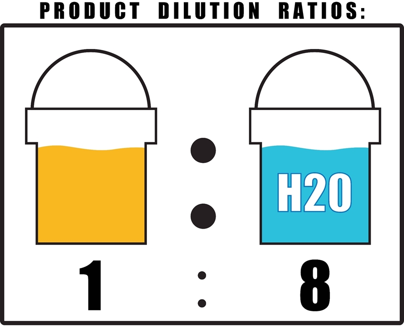 Citrus Pre Wash Dilution Ratio